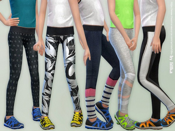 The Sims Resource: Sporty Leggings for Girls by lillka