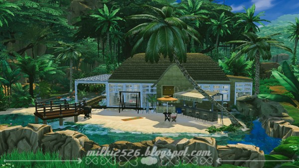 Milki2526: Bungalow in the jungle for two