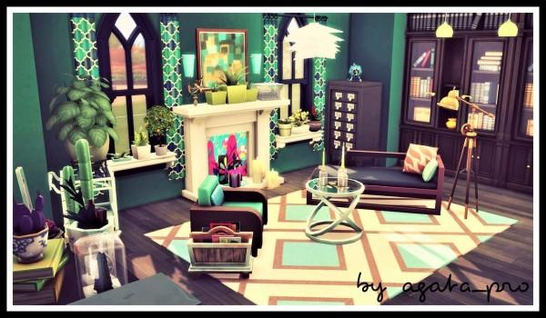 Agathea k: Bottle Green livingroom