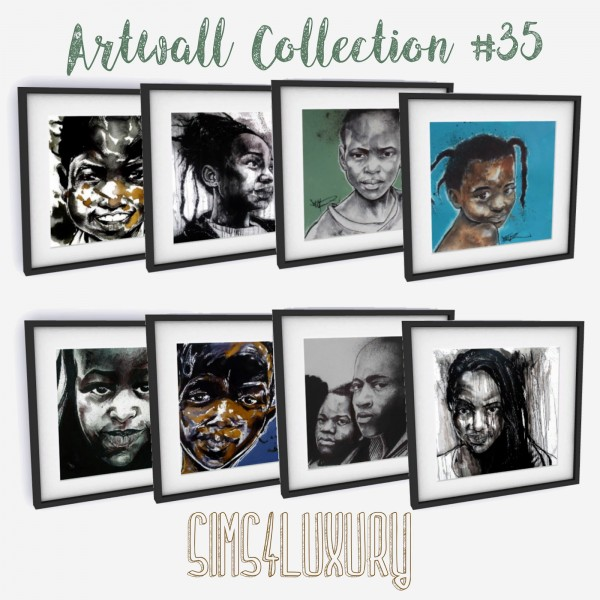 Sims4Luxury: Artwall Collection 35