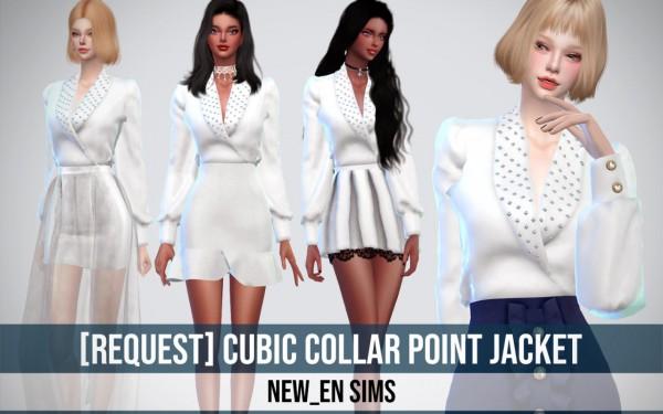 Newen: Cubic Collar Point Jacket