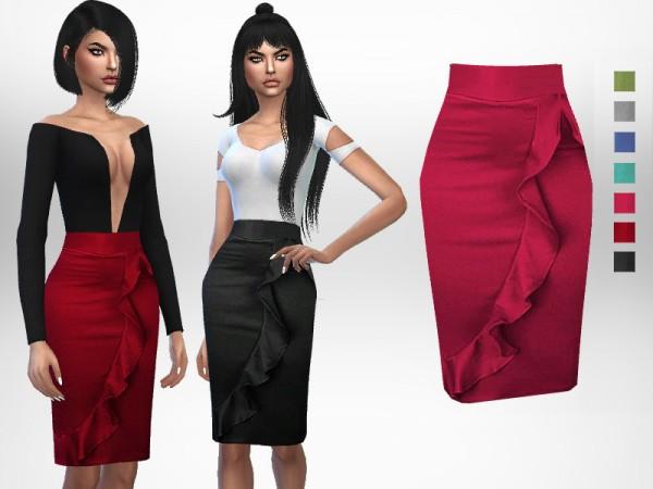 The Sims Resource: Ruffle Skirt by Puresim