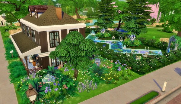 Mod The Sims: Brown and White House by heikeg