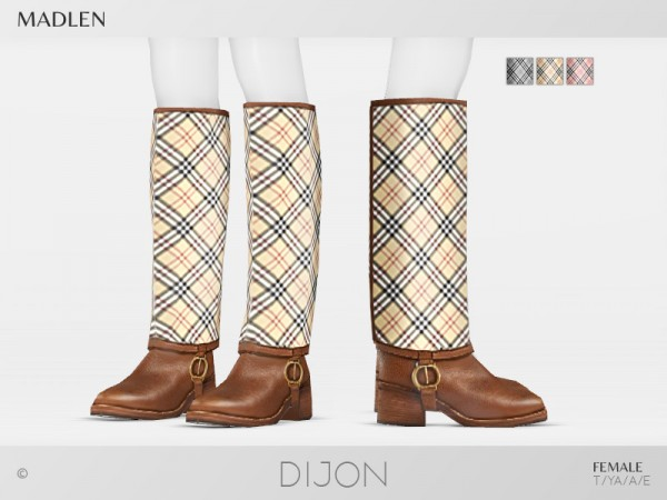 The Sims Resource: Madlen Dijon Boots by MJ95