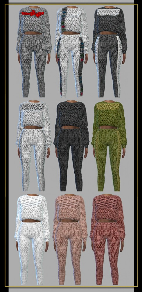 Fusion Style: Sweater and leggings