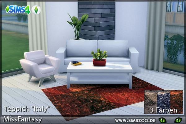 Blackys Sims 4 Zoo: Italy rugs by MissFantasy