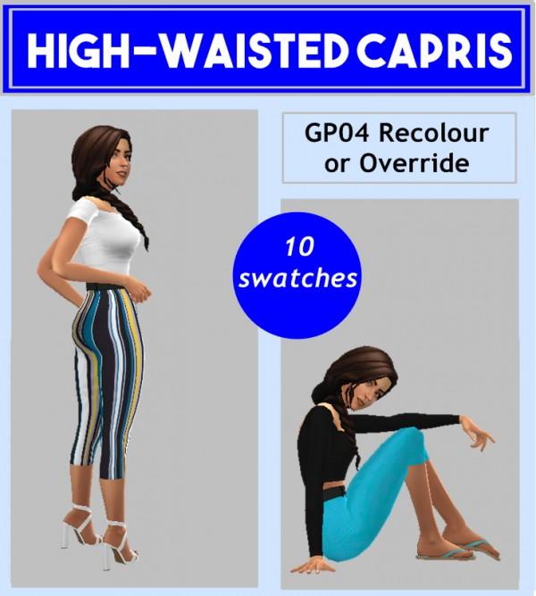 Sims 4 Sue: High Waisted Capris