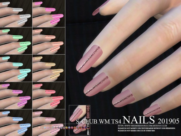 The Sims Resource: Nails 201905 by S Club