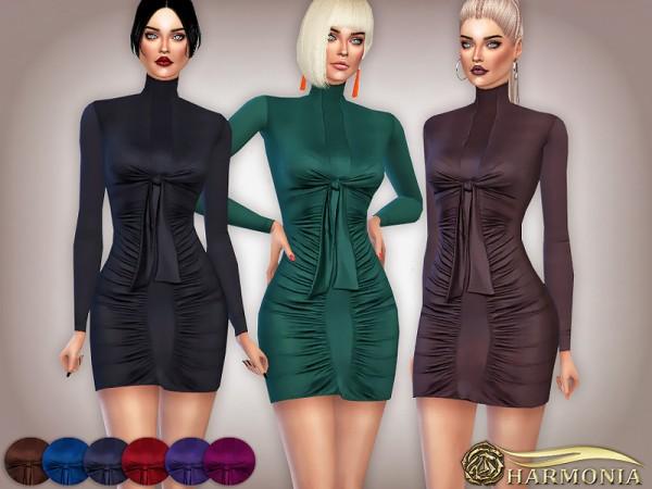 The Sims Resource: Boss girl Sleeve Bodycon Dress by Harmonia