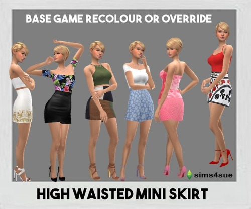 Sims 4 Sue: High Waisted Mini Skirt