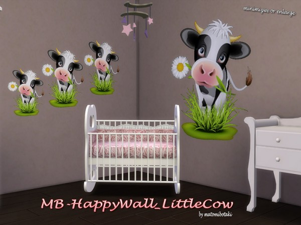 The Sims Resource: HappyWall LittleCow by matomibotaki