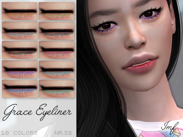 The Sims Resource: Grace Eyeliner N.32 by IzzieMcFire