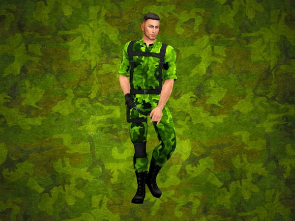 The Sims Resource: Camo CAS Background by KatVerseCC