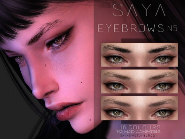 The Sims Resource: Eyebrows N5 by SayaSims