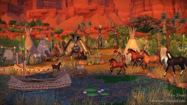 Frau Engel: Native American Village