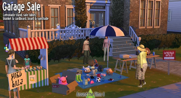 Around The Sims 4: Garage   Yard Sale