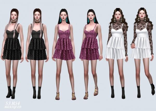 SIMS4 Marigold: Love Mini Tiered Dress