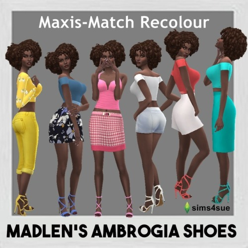 Sims 4 Sue: Madlen`s Ambrogio shoes recolored