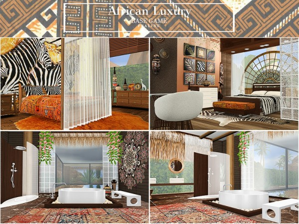 The Sims Resource: African Luxury House by Pralinesims