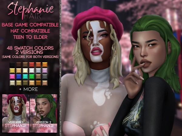 Candy Sims 4: Stephanie Hairstyle