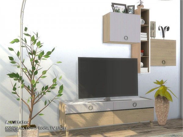 The Sims Resource: Montana Living Room TV Units by ArtVitalex
