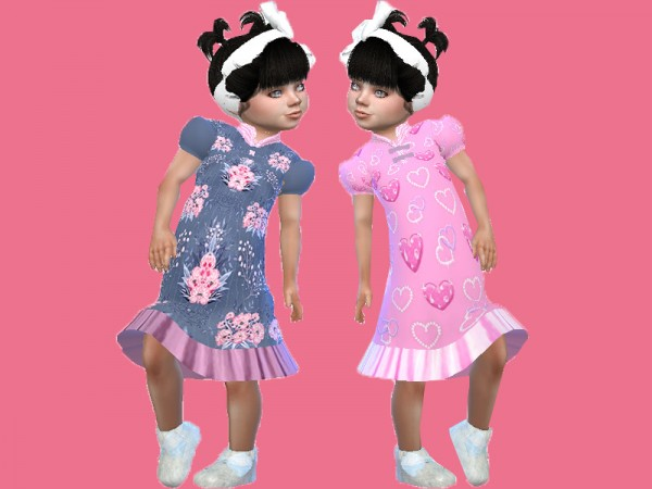 The Sims Resource: Long frill sleepwear by TrudieOpp