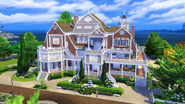 BereSims: Hamptons Inspired Beach House