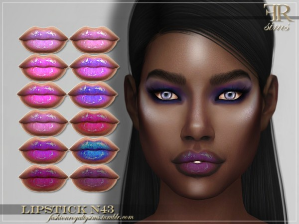 The Sims Resource: Lipstick N43 by FashionRoyaltySims