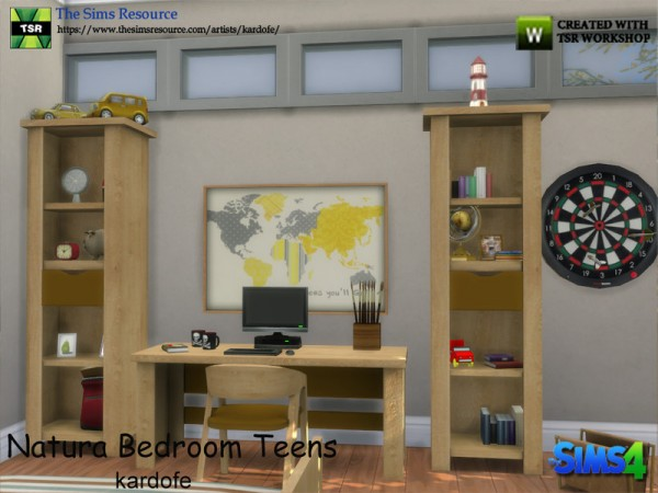 the sims resource natura bedroom teens by kardofe sims 18932 | 33