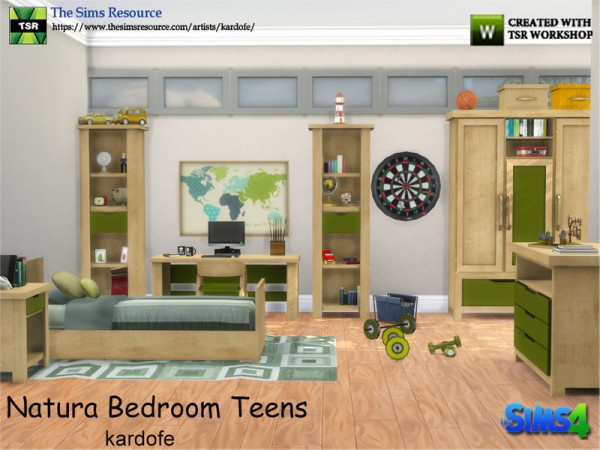 the sims resource natura bedroom teens by kardofe sims 18932 | 34