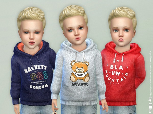 The Sims Resource: Hoodie for Toddler Boys P07 by lillka