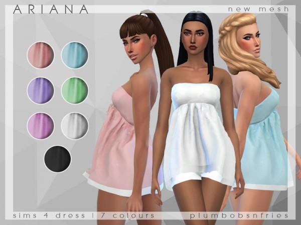The Sims Resource: Ariana sleepwear by Plumbobs n Fries