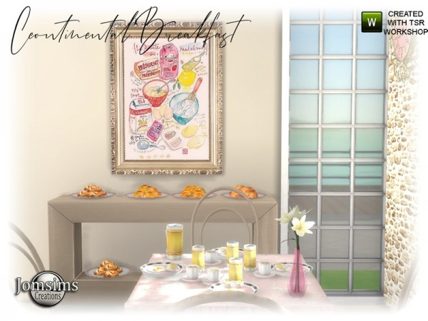 The Sims Resource: Continental Breakfast Diningroom by jomsims