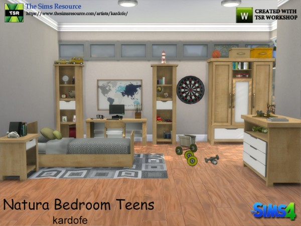 the sims resource natura bedroom teens by kardofe sims 18932 | 36