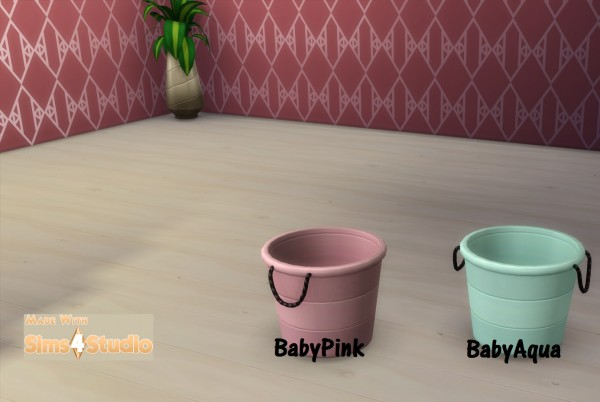 Mod The Sims: Water Balloon Bucket 9 Patterns 34 Colours by wendy35pearly