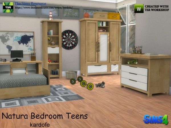the sims resource natura bedroom teens by kardofe sims 18932 | 37