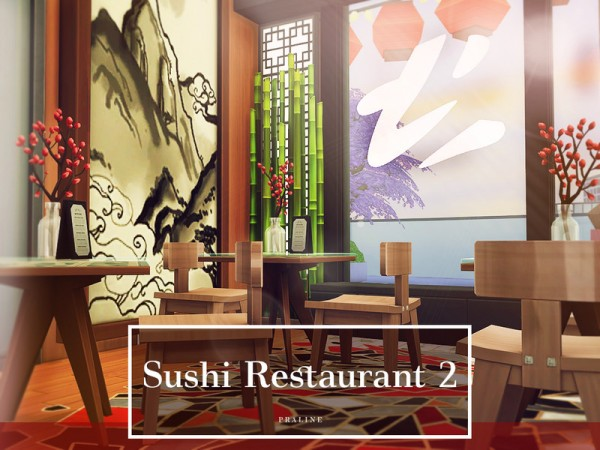 The Sims Resource: Sushi Restaurant 2 by Pralinesims