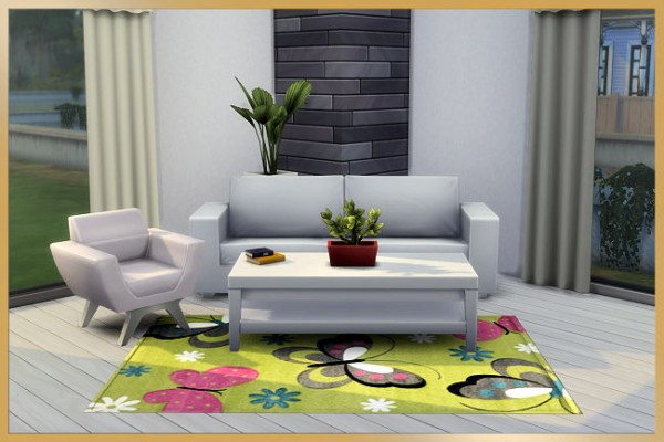 Blackys Sims 4 Zoo: Butterfly rugs by MissFantasy