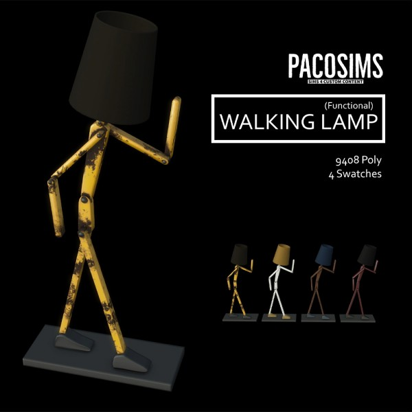Paco Sims: Walking Lamp
