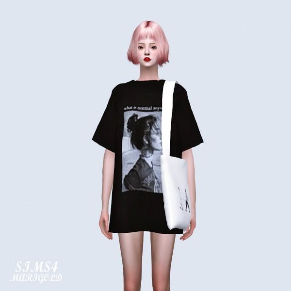 SIMS4 Marigold: Long Box T With Eco Bag