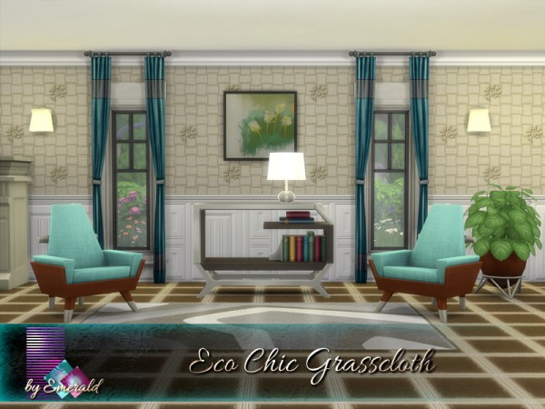 The Sims Resource: Eco Chic Grasscloth by emerald