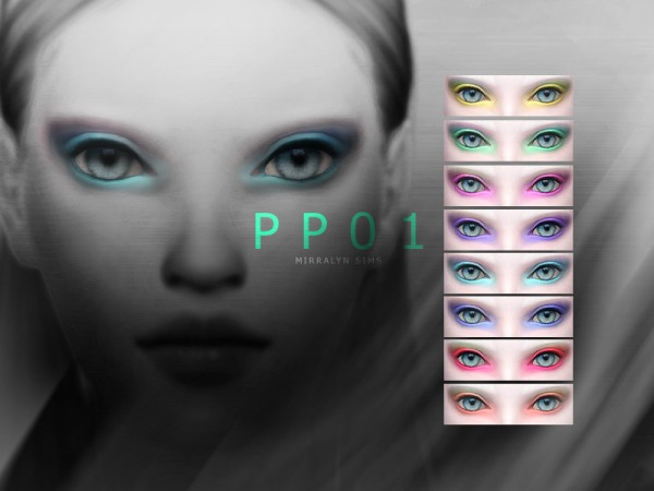 The Sims Resource: Eyeshadow PP01 by Mirralyn