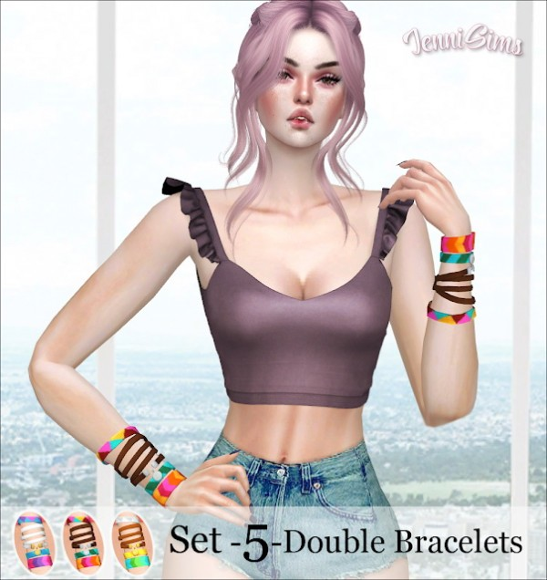 Jenni Sims: Collection Bracelets Double left and right