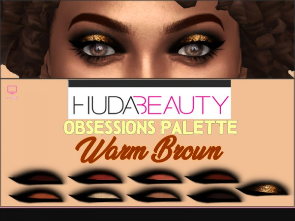 The Sims Resource: Beauty Obsessions Palette Warm Brown by lucidoll
