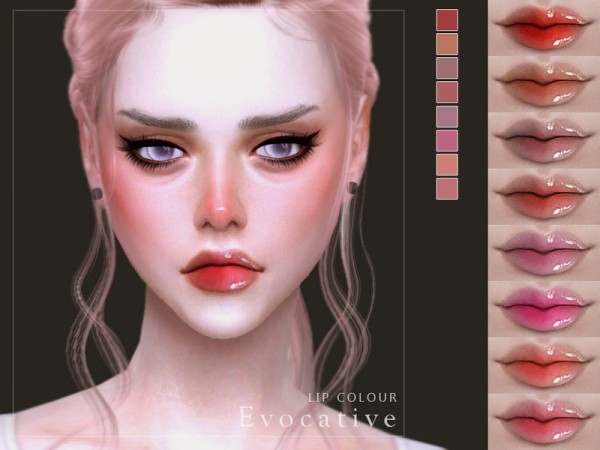 The Sims Resource: Evocative Lip Colour by Screaming Mustard