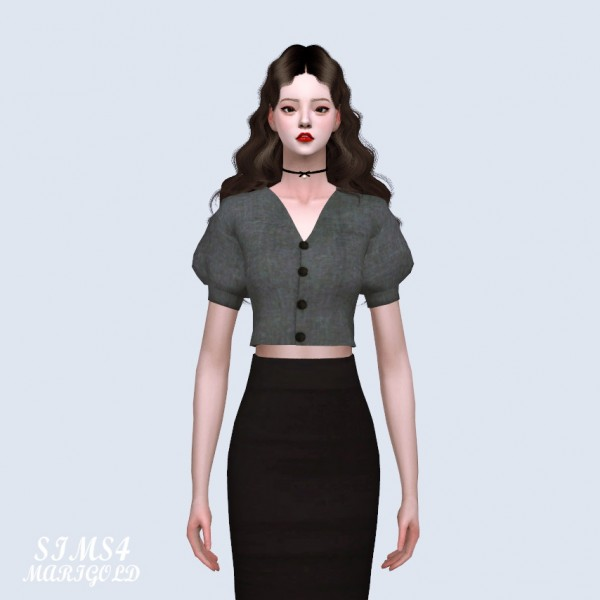 SIMS4 Marigold: Lovely Puff Sleeves Blouse