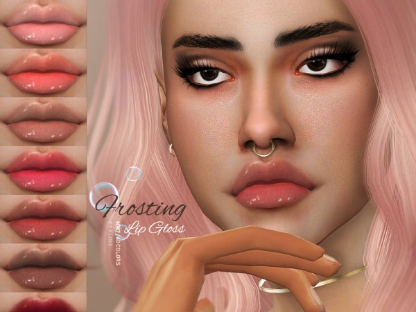 The Sims Resource: Frosting Lip Gloss N197 by Pralinesims