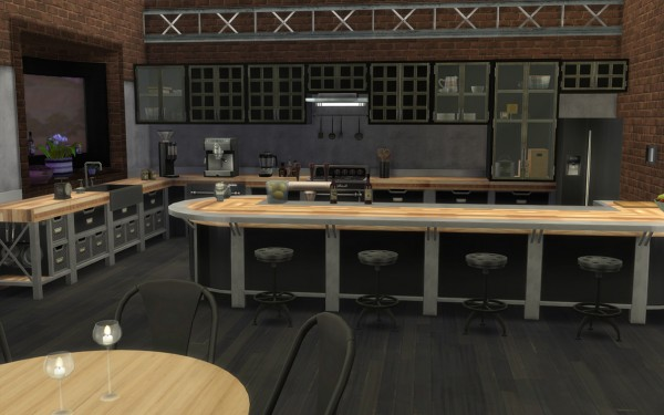 Mod The Sims Modern Industrial Style Kitchen Set By Lilotea Sims 4 Downloads