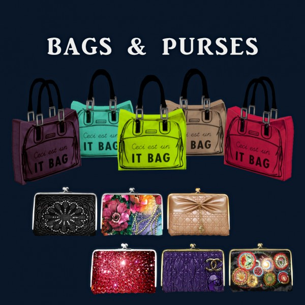 Leo 4 Sims: Bags and Purses