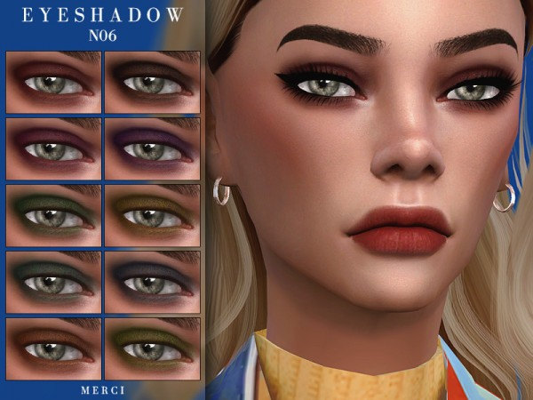 The Sims Resource: Eyeshadow N06 by Merci